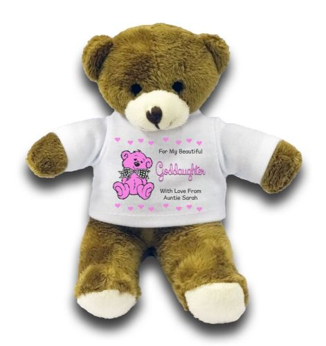 "Personalised Goddaughter Bear Gift 7"" Teddy Bear"